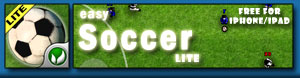 easySoccer Lite - the new, free, 2d soccer for your iPhone / iPad